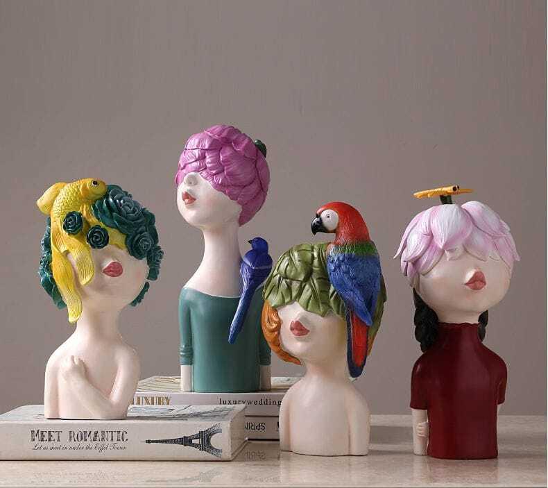 tượng cô gái trendy sáng tạo