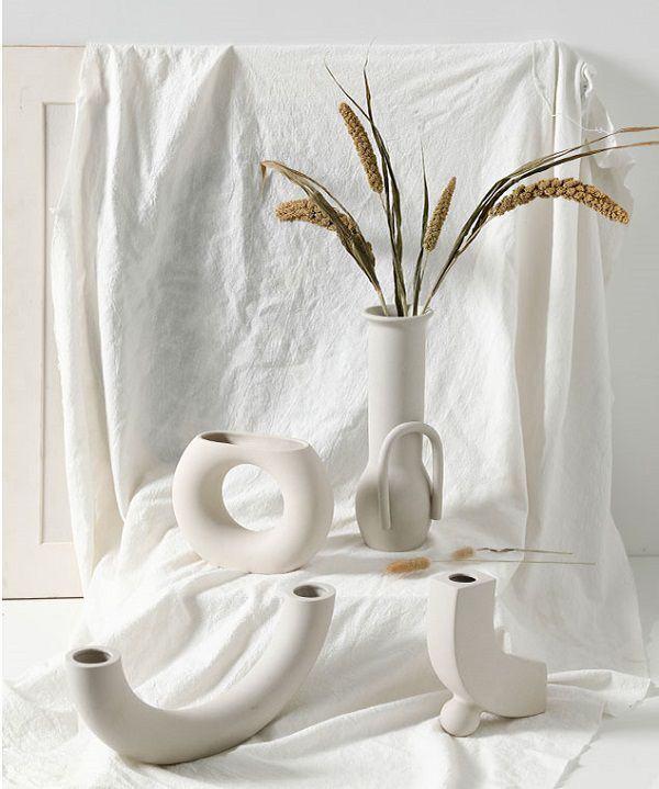 bình hoa sứ trắng cao cấp