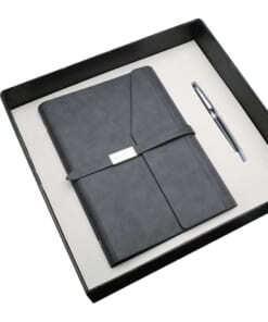 Set quà tặng sổ da kèm bút ký